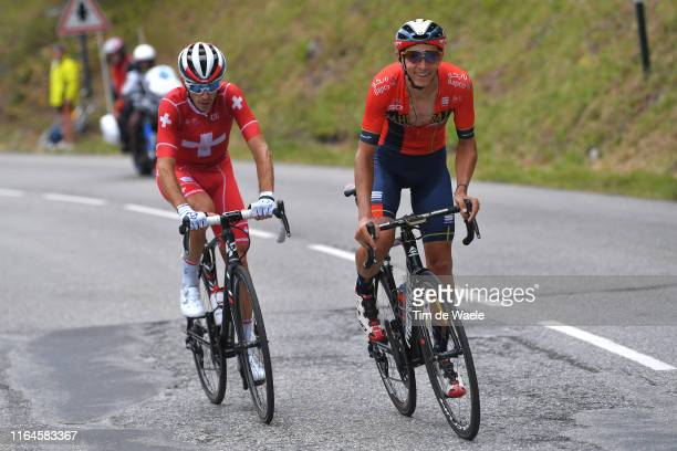 Sebastien Reichenbach of Switzerland and Team Groupama-FDJ / Dylan Teuns of Belgium and Team Bahrain-Merida / during the 106th Tour de France 2019,...