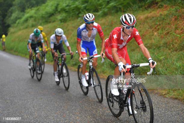 Sebastien Reichenbach of Switzerland and Team Groupama-FDJ / Thibaut Pinot of France and Team Groupama-FDJ / Egan Bernal of Colombia and Team INEOS...