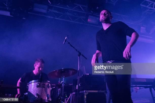 Sebastien Schultz and James Graham of The Twilight Sad perform on stage at The Liquid Room on November 29 2018 in Edinburgh Scotland