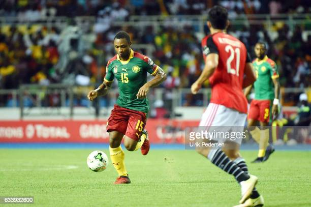 Sebastien Siani of Cameroon during the African Nations Cup Final match between Cameroon and Egypt at Stade de L'Amitie on February 5 2017 in...