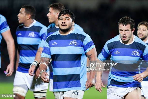 Sebastien Taofifenua of Barbarians during the test match between Barbarians and Maori All Blacks at Stade ChabanDelmas on November 10 2017 in...