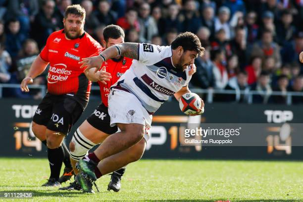 Sebastien Taofifenua of Bordeaux during the Top 14 match between RC Toulon and Bordeaux Begles at Felix Mayol Stadium on January 27 2018 in Toulon...