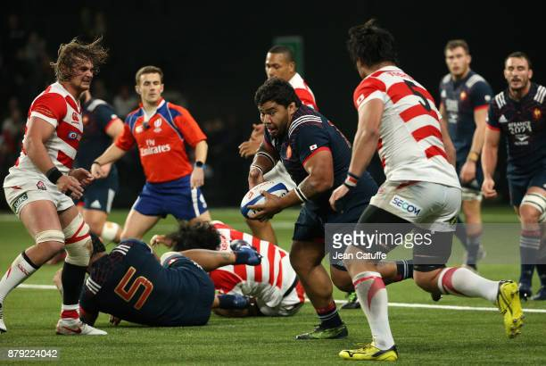 Sebastien Taofifenua of France during the Autumn International rugby match between France and Japan at U Arena on November 25 2017 in Nanterre near...