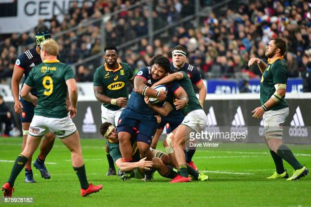 Sebastien Taofifenua of France during the test match between France and South Africa at Stade de France on November 18 2017 in Paris France