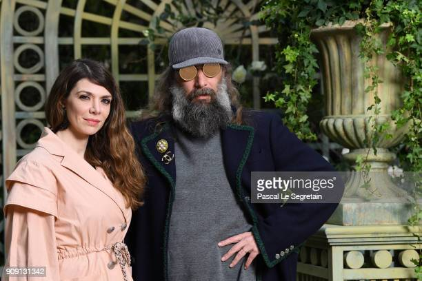 Sebastien Tellier and Amandine de la Richardiere attend the Chanel Haute Couture Spring Summer 2018 show as part of Paris Fashion Week on January 23...