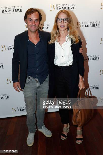 Sebastien Thiery and his companion Pascale Arbillot attend 'Les Chatouilles' Premiere hosted by Fondation Diane Lucien Barriere at Drugstore Publicis...