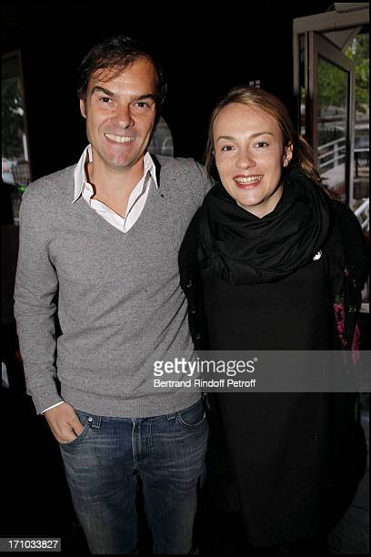 Sebastien Thiery and his wife Daphne Thierry Tesson at Launch Of Web Site Of Drunk Driving Awareness Association Ferdinand Chesnais