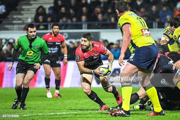 Sebastien Tillous Borde of Toulon during the Top 14 match between Clermont Auvergne and RC Toulon on January 8 2017 in ClermontFerrand France