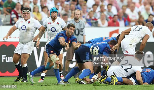 Sebastien TillousBorde of France passes the ball during the International match between France and England at Stade de France on August 22 2015 in...
