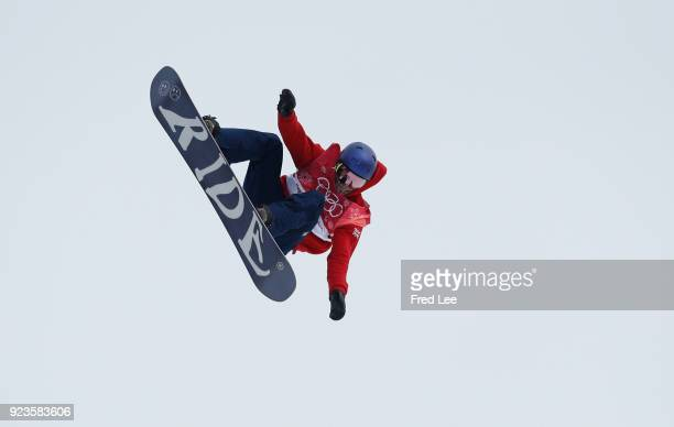 Sebastien Toutant of Canada competes during the Men's Big Air Final on day 15 of the PyeongChang 2018 Winter Olympic Games at Alpensia Ski Jumping...