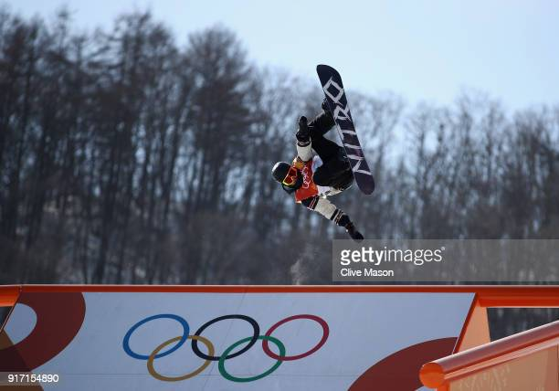 Sebastien Toutant of Canada in action during the Freestyle Skiing Mens Slopestyle final on day two of the PyeongChang 2018 Winter Olympic Games at...