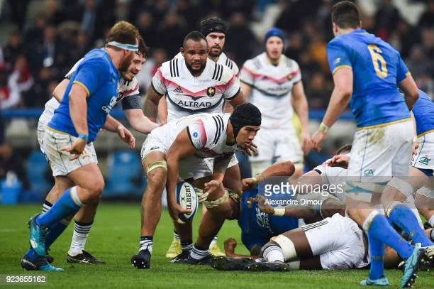 Sebastien Vahaamahina of France during the NatWest Six Nations match between France and Italy at Stade Velodrome on February 23 2018 in Marseille...