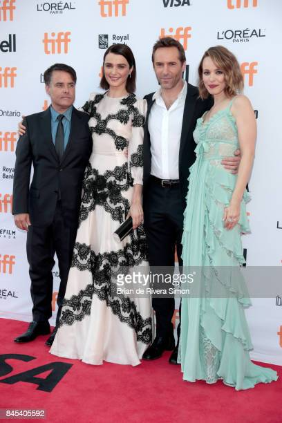Sebastián Lelio Rachel Weisz Alessandro Nivola and Rachel McAdams attend the 'Disobedience' premiere during the 2017 Toronto International Film...