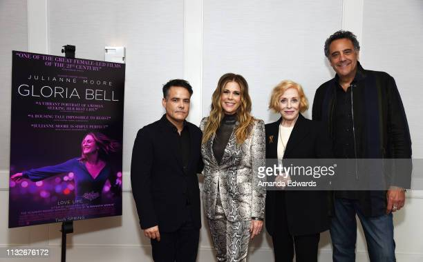 Sebastián Lelio Rita Wilson Holland Taylor and Brad Garrett attend a special screening of A24's Gloria Bell at The London West Hollywood on February...