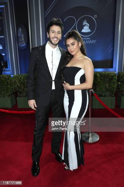 Sebastián Yatra and Lauren Jauregui attend the 20th annual Latin GRAMMY Awards at MGM Grand Garden Arena on November 14 2019 in Las Vegas Nevada