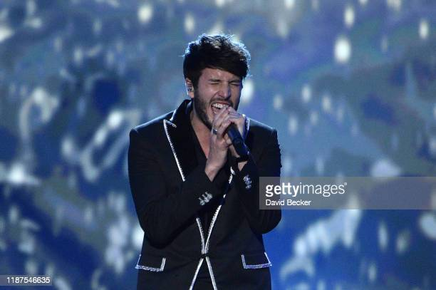 Sebastián Yatra performs onstage during the Latin Recording Academy's 2019 Person of the Year gala honoring Juanes at the Premier Ballroom at MGM...