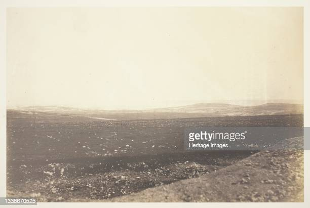 Sebastopol, from the Mortar Battery, 1855. A work made of salted paper print, from the album 'photographic pictures of the seat of war in the crimea'...