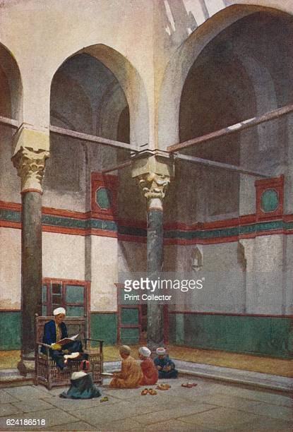 Sebeel of the Mosque of the Sultan Kelaun' c1880 From Egypt by R Talbot Kelly [Adam Charles Black London 1904] Artist Robert George Talbot Kelly