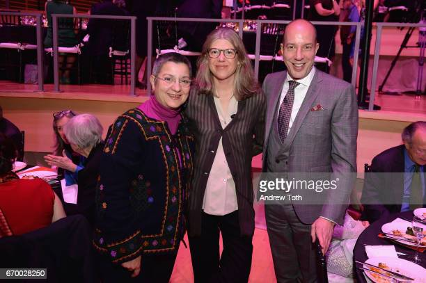 Sebnem Kour Fincanci Sigrid Rausing and Anthony Romero attend the PHR 2017 Gala at Jazz at Lincoln Center on April 18 2017 in New York City