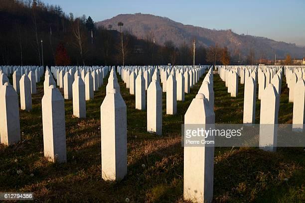SebrenicaPotocari Memorial Center and Cemetery on the outskirt of Srebrenica in Republika Srpska the Serbian administrative entity in Bosnia and...