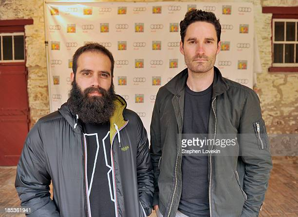 Sebu Simonian and Ryan Merchant of Capital Cities attend the Victory Celebration at the Finish Line of the 2013 Audi Best Buddies Challenge...