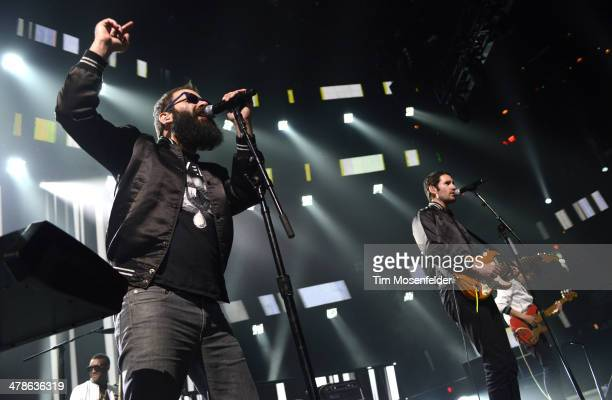 Sebu Simonian and Ryan Merchant of Capital Cities perform as part of the iTunes Festival At SXSW at Moody Theater on March 13, 2014 in Austin, Texas.