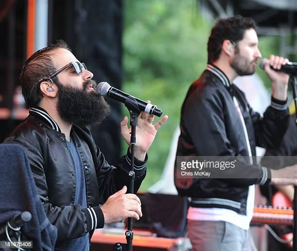 Sebu Simonian and Ryan Merchant of Capital Cities perform at the 2013 Music Midtown Festival at Piedmont Park on September 21, 2013 in Atlanta,...