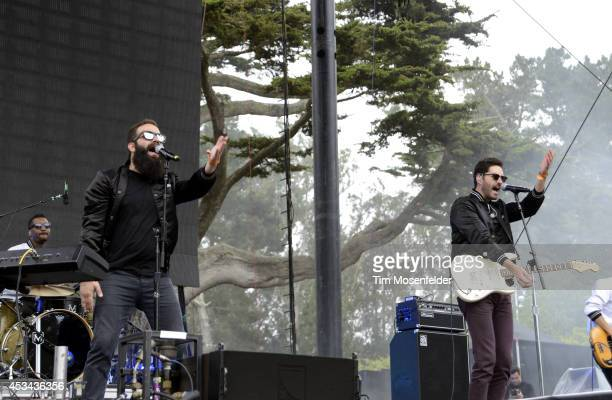 Sebu Simonian and Ryan Merchant of Capital Cities perform during the Outside Lands Music Festival at Golden Gate Park on August 9, 2014 in San...