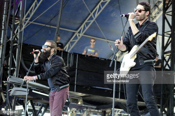 Sebu Simonian and Ryan Merchant of Capital Cities perform during the 2014 Hangout Music Festival at Hangout Beach on May 18, 2014 in Gulf Shores,...