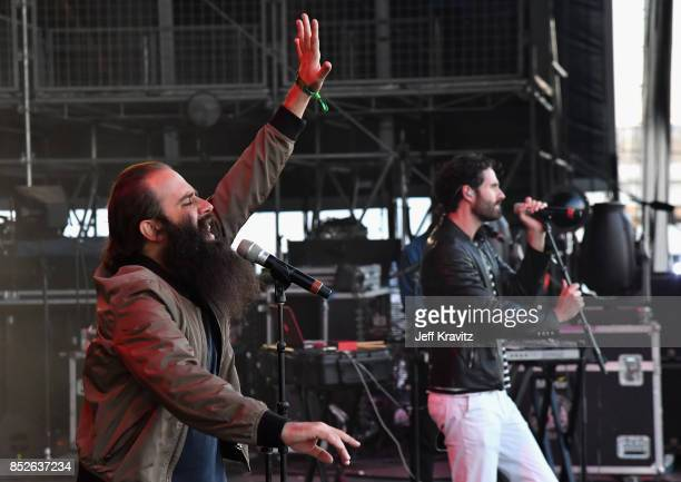 Sebu Simonian and Ryan Merchant of Capital Cities perform on Downtown Stage during day 2 of the 2017 Life Is Beautiful Festival on September 23 2017...