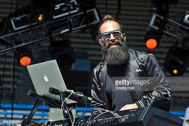 Sebu Simonian of Capital Cities performs on day three of the Bumbershoot Music and Arts Festival September 1 2014 in Seattle Washington