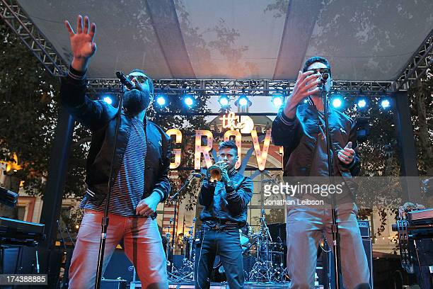 Sebu Simonian, Spencer Ludwig and Ryan Merchant perform at the 2013 Grove Summer Concert Series at The Grove on July 24, 2013 in Los Angeles,...