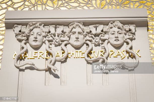 secession building detail - art nouveau stock pictures, royalty-free photos & images
