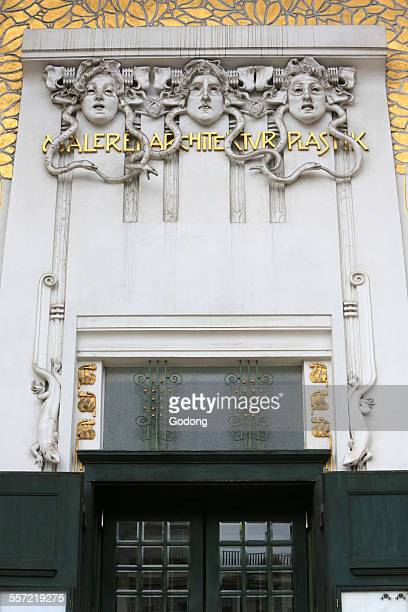secession building - art nouveau stock pictures, royalty-free photos & images