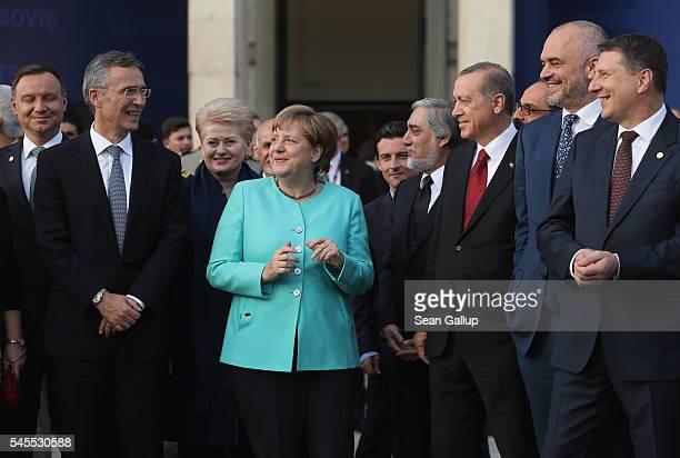 NATO Secetary General Jens Stoltenberg Lithuanian President Dalia Grybauskaite German Chancellor Angela Merkel Afghan Chief Executive Officer...