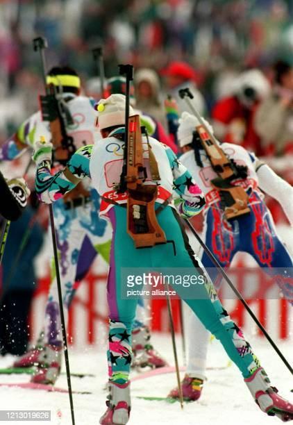 Sechsmal werden die männlichen und weiblichen Biathleten bei den XVII Olympischen Winterspielen vom 12 bis 27 Februar 1994 im norwegischen...