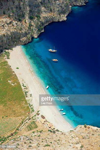 Secluded bay, Olu Deniz, Anatolia, Turkey, Asia Minor, Asia