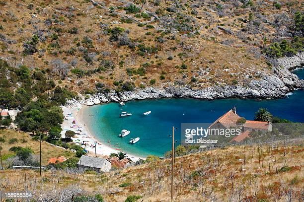 Secluded beach, Hvar island, Croatia