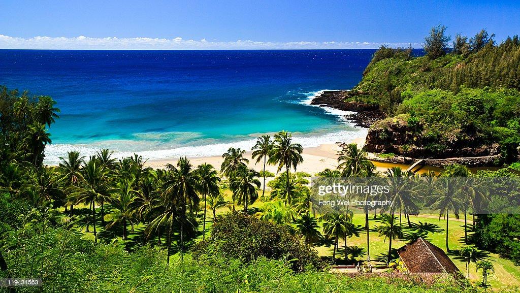 Secluded beach, South Kauai : Stock Photo