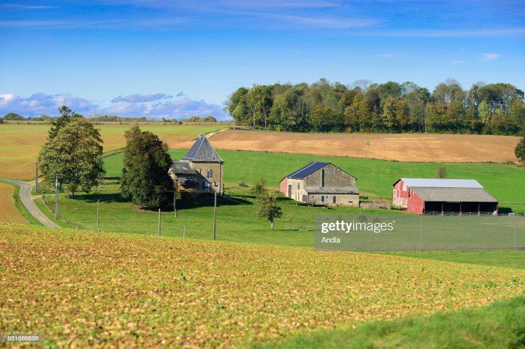 Isolated farm. : News Photo
