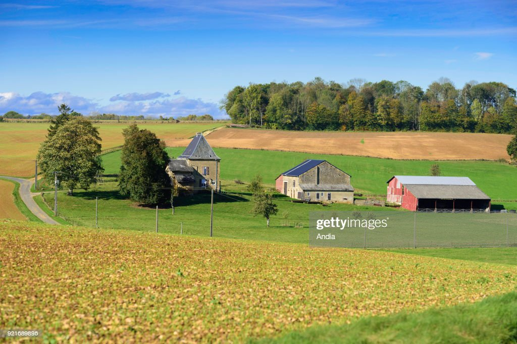 Secluded farm in the countryside surrounding Haraucourt (north-eastern France).