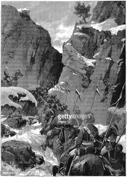 Second AngloAfghan War 10th Bengal Lancers negotiating the Jugdulluk Pass supervised by a British officer Photo12/UIG via Getty Images