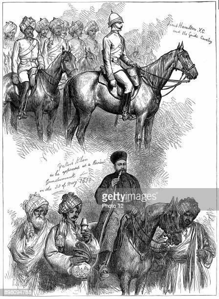 Second AngloAfghan War Yakub Khan ruler of Afghanistan at a review at Gundamuck 30 May 1879 after signing of Treaty of Gundamuck on 26 May At top...