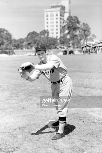 Second baseman Bobby Doerr of the Boston Red Sox poses for a portrait in March 1940 during Spring Training in Florida Doerr played his entire career...
