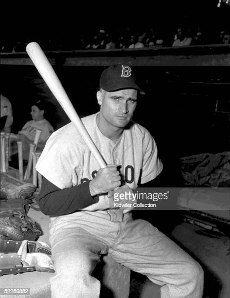 Second baseman Bobby Doerr of the Boston Red Sox poses for a portrait before a 1951 game against the New York Yankees at Yankee Stadium in the Bronx...