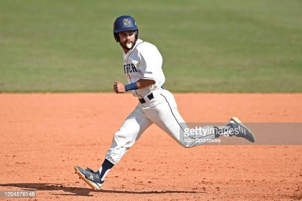 Second baseman Derek Cartaya runs to second base in the ninth inning as the Pepperdine University Waves faced the FIU Golden Panthers on March 1 at...