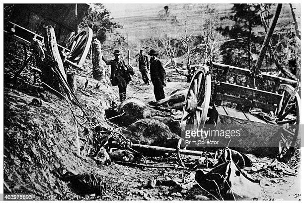 Second Battle of Fredericksburg American Civil War 1863 'The Aftermath of Sedgwick's Assault on Marye's Heights ' Pictured are Confederate caisson...