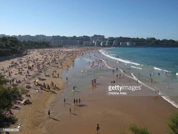 Second Beach in El Sardinero in Santander Cantabria Spain