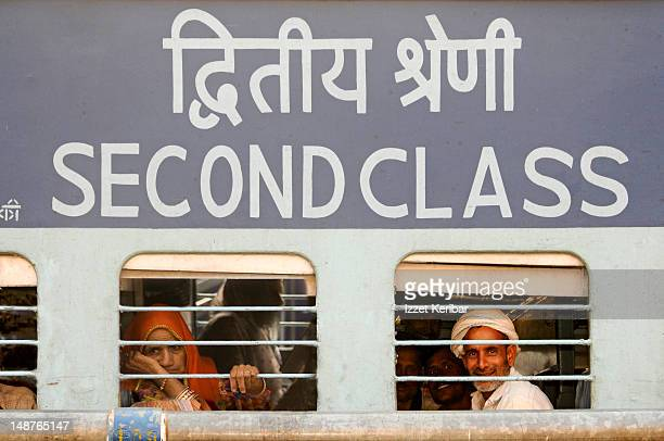 Second class train carriage at Jaipur train station.
