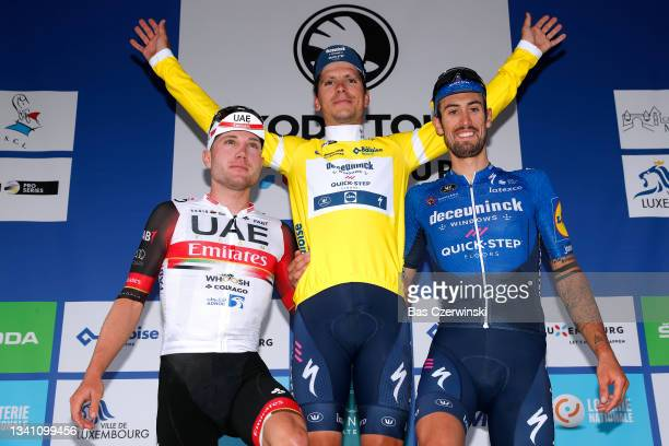 Second classified Marc Hirschi of Switzerland and UAE Team Emirates, first classified João Almeida of Portugal and Team Deceuninck - Quick-Step...